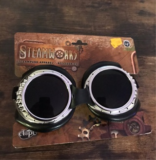 Steampunk silver goggles sunglasses new costume