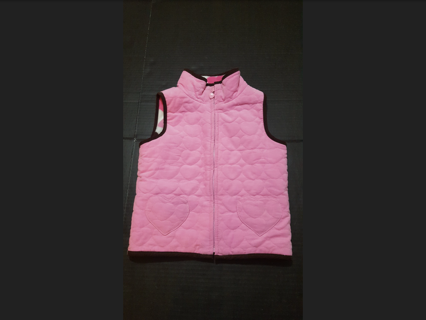 Unbranded Size 4-6 Small Reversible Winter Vest: Quilted Hearts/Fleece Hearts! Great Condition!