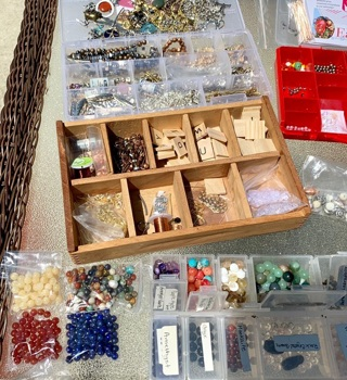 100 Beads and Bead Findings Czech And Gemstone GIN 250+ Items!