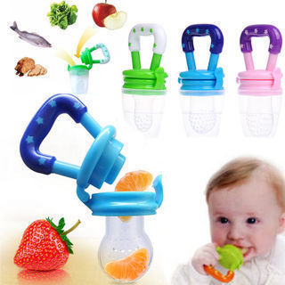 Safety Silicone Pacifier Baby Feeding Tool Food Fruit Soft Nipple Feeder Teether