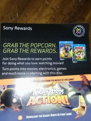 This is for Sony rewards if u are interested
