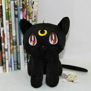 "Sailor Moon Yatimisi Luna Diana Cat 7"" Stuffed Soft Plush Toy Doll Black"