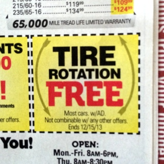 Tire Rotation Coupon >> Free Coupon For A Free Tire Rotation At Mavis Tire Other Listia