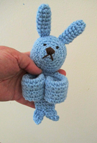 Slap Bracelet Bunny. New. Crocheted by Me