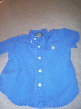 Baby boy 12months shirt by ralph lauren