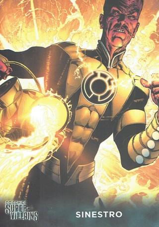 DC Comics Super Villains Collectible Card Sinestro #55