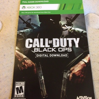 Call of Duty digital code for Xbox 360