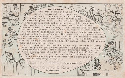 Vintage Used Postcard: 1910 Dear Friend