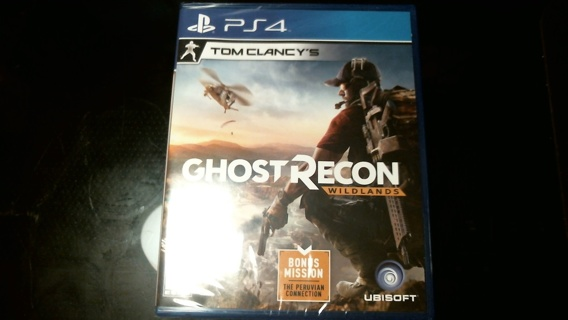 """New Sealed Unopened PS4 Game: """"GHOST RECON WILDLANDS"""""""