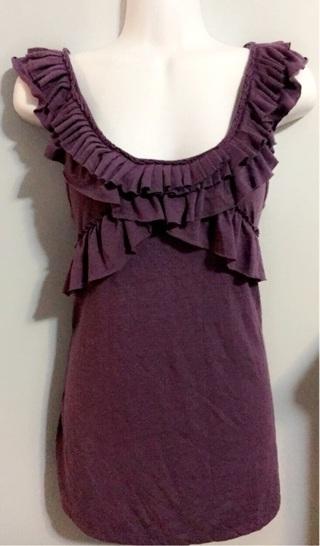 Xhilaration Purple Ruffle Top