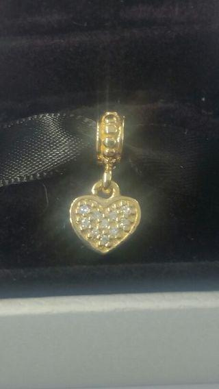 ☆☆☆Authentic Pandora Solid 14K Gold Brilliant Heart Diamond Charm☆☆☆GIN BONUS ☆☆☆GIN BONUS ☆☆☆