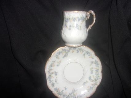 Vintage Antique Porcelain Demitasse Cup and Saucer
