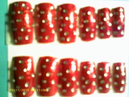 LIZARD TOES DESIGNER NAILS (Red Splendor)