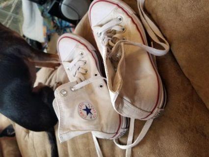 Size 6 white Converses