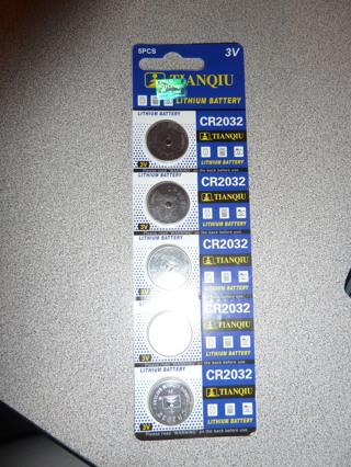 CR2032 Tianqiu Lithium Battery 5 pack