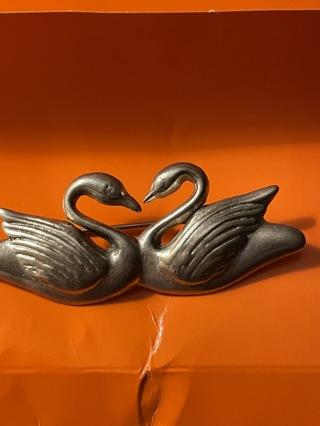 Vintage Swan brooch 925~
