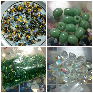 Assorted Mixed Bead Lot - Jade, Stone, Wood & More - Will add to lot as bids increase