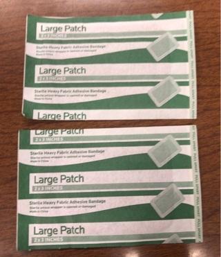 2 Large Patch Adhesive Bandages