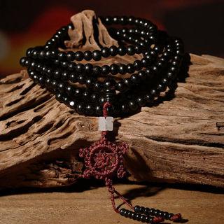 Buddhist Buddha Meditation Sandalwood 216 Prayer Bead 6mm Mala Bracelet Necklace