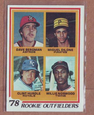 1978 Topps Rookie Outfielders Baseball Card # 705