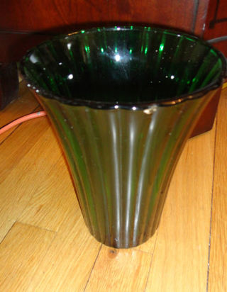 Free Napco 1161 Cleveland Green Glass Lined Flower Vase Home