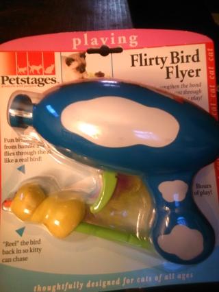 NIP Flirty Bird Flyer Cat Toy
