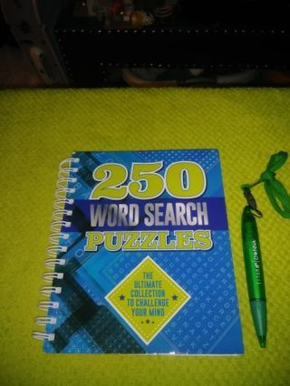 ❤✨❤✨❤️BRAND NEW 250 WORD SEARCH PUZZLES BOOK+BONUS LANYARD INK PEN❤✨❤✨❤