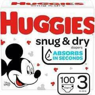 ⭐HUGGIES SIZE 3 DIAPERS SNUG & DRY BOX OF 100⚡