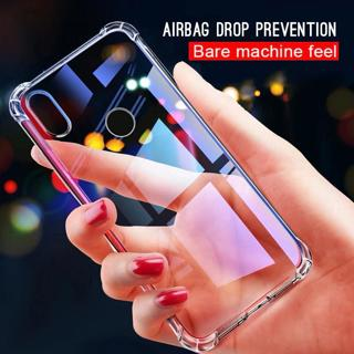 Clear Phone Cases For Xiaomi Redmi Note 6 5 Pro 6 6A Case Transparent Crystal Airbag Cover for Red
