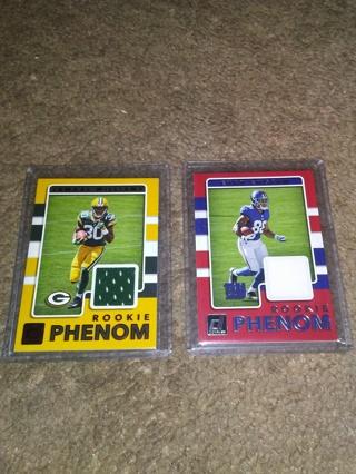 (2) NFL Rookie Patch Cards, E.Ingram+Jamal Williams.