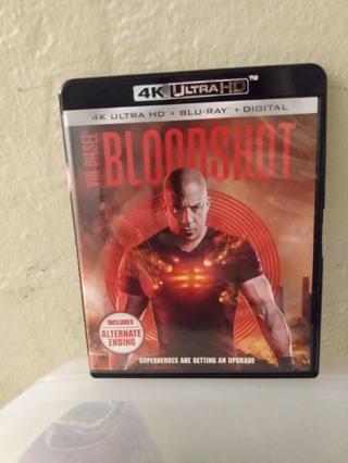 Brand New Bloodshot 4K Ultra HD + Blu-Ray + Digital Combo Pack