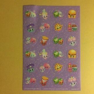 Shopkins Sticker Sheet ~ 24 TOTAL ~ SO KAWAII!
