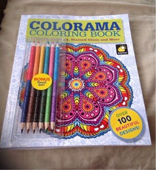 Colorama Adult Coloring Book Flowers Paisleys Stained Glass As Seen On TV