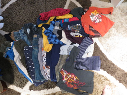 51d276d26 FREE: Huge Lot Boys 3T Fall & Winter Clothes Closet Full Pants Shirts Coats  Pajamas Turtlenecks Polo