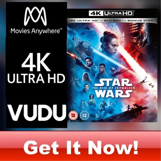 STAR WARS: THE RISE OF SKYWALKER 4K MOVIES ANYWHERE CODE ONLY