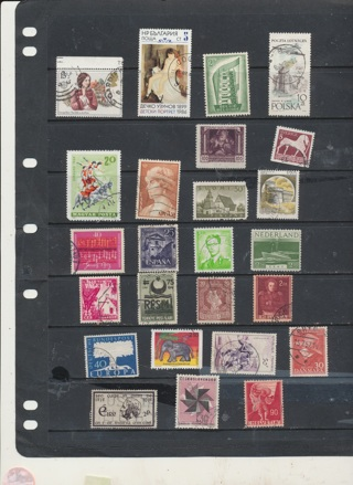 Portporri of 25 Stamps from Europe, All Different Countries, Mint & Used in This Collection -EUR-042