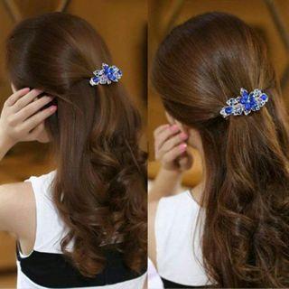 New Fashion crystal Rhinestone Flower Hair Barrette Clip Hairpin Women Jewelry
