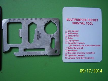 Multipurpose Pocket Survival Tool