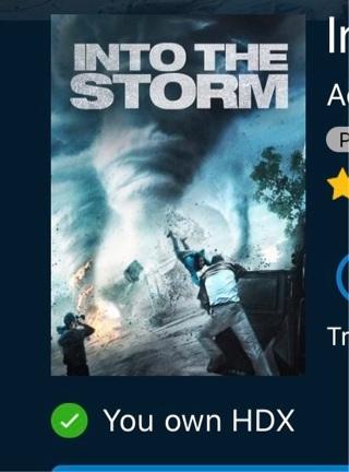 Into the Storm digital HD