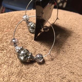 Handmade silver bead earrings