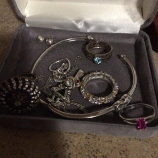 Big lot of real sterling & more , diamond necklace