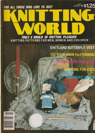 Craft Magazine: Knitting World: August 1981