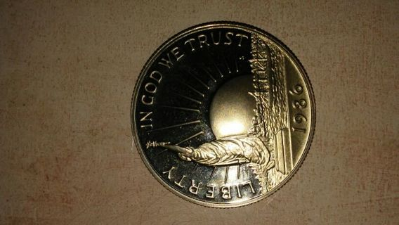"""1986 """"A Nation Of Immigrants"""" Half Dollar"""