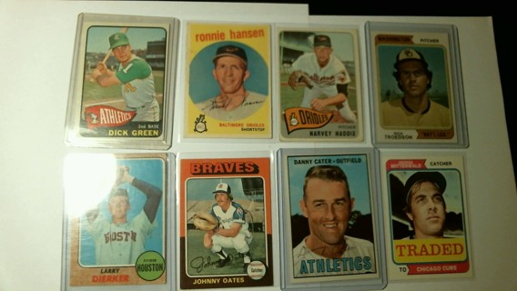 Eight Nice Baseball Cards 50's, 60's & 70's