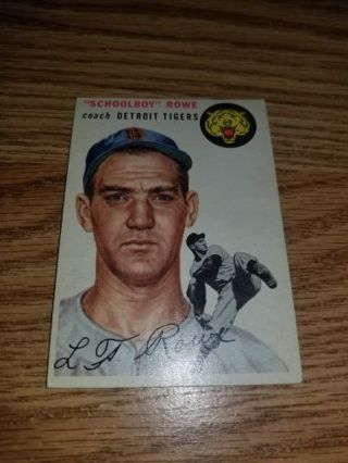 """1954 Topps Baseball """"Schoolboy Rowe"""" #197 Detroit Tigers,EX condition,Free Shipping!"""