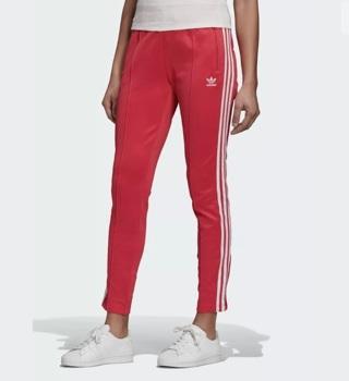 Women Activewear Adidas PRIMEBLUE SST TRACK PANTS Power Pink/White Plus Size 2XL