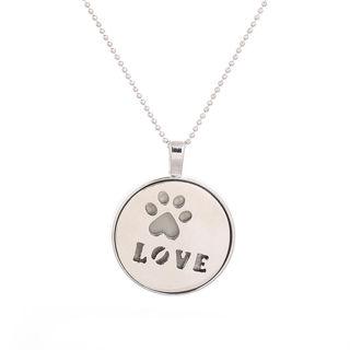 Women Glow Love Round Pendant Necklace Jewelry Gift