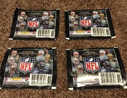 (4- Packs)2014 NFL Panini Sticker packs