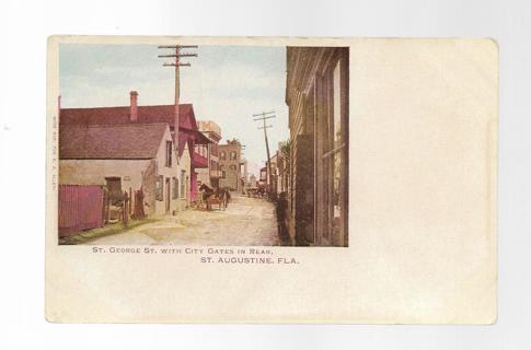Vintage Postcard St Augustine FL St George Street
