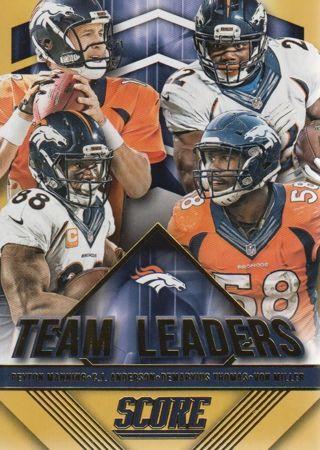 2015 Score Football Denver Broncos GOLD SP Team Leaders Insert